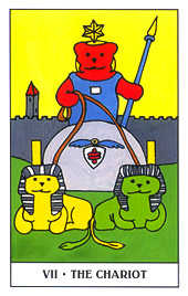 The Chariot Tarot Card - Gummy Bear Tarot Deck