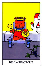 Roi of Coins Tarot Card - Gummy Bear Tarot Deck