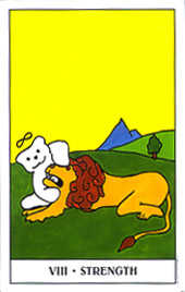 Strength Tarot Card - Gummy Bear Tarot Deck