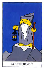 The Hermit Tarot Card - Gummy Bear Tarot Deck