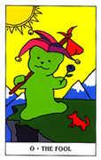 The Fool Tarot card in Gummy Bear Tarot deck