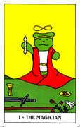 The Magician Tarot card in Gummy Bear Tarot deck