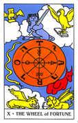 Wheel of Fortune Tarot card in Gummy Bear Tarot deck