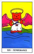 Temperance Tarot card in Gummy Bear Tarot deck