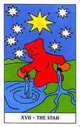 The Star Tarot card in Gummy Bear Tarot deck