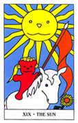 The Sun Tarot card in Gummy Bear Tarot deck