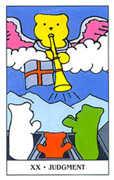 Judgement Tarot card in Gummy Bear Tarot deck