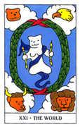 The World Tarot card in Gummy Bear Tarot deck