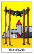 Four of Wands Tarot card in Gummy Bear Tarot deck