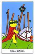 Six of Wands Tarot card in Gummy Bear Tarot deck