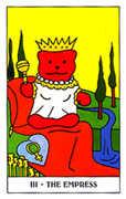 The Empress Tarot card in Gummy Bear Tarot deck