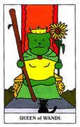Queen of Wands Tarot card in Gummy Bear Tarot deck