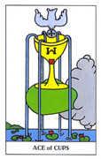 Ace of Cups Tarot card in Gummy Bear Tarot deck