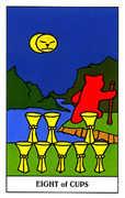 Eight of Cups Tarot card in Gummy Bear Tarot deck