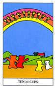 Ten of Cups Tarot card in Gummy Bear Tarot deck