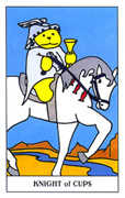 Knight of Cups Tarot card in Gummy Bear Tarot deck
