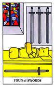 Four of Swords Tarot card in Gummy Bear Tarot deck