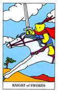 Knight of Swords Tarot card in Gummy Bear Tarot deck