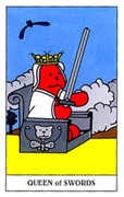 Queen of Swords Tarot card in Gummy Bear Tarot deck