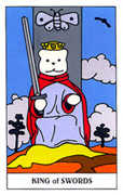 King of Swords Tarot card in Gummy Bear Tarot deck