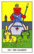 The Chariot Tarot card in Gummy Bear Tarot deck