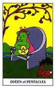 Queen of Coins Tarot card in Gummy Bear Tarot deck