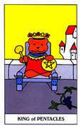 King of Coins Tarot card in Gummy Bear Tarot deck