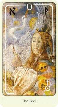 The Fool Tarot Card - Haindl Tarot Deck