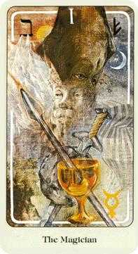 The Magician Tarot Card - Haindl Tarot Deck