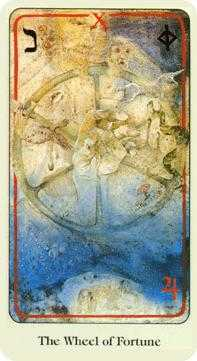 The Wheel of Fortune Tarot Card - Haindl Tarot Deck