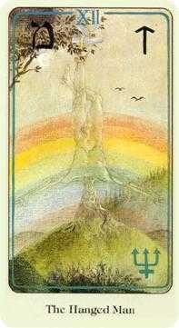 The Hanged Man Tarot Card - Haindl Tarot Deck