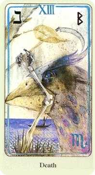Death Tarot Card - Haindl Tarot Deck