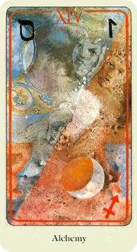 The Guide Tarot Card - Haindl Tarot Deck