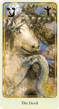 The Devil Tarot Card - Haindl Tarot Deck