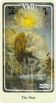 The Star Tarot Card - Haindl Tarot Deck