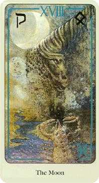 The Moon Tarot Card - Haindl Tarot Deck