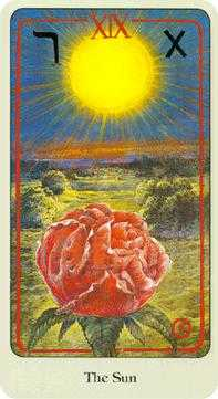 The Sun Tarot Card - Haindl Tarot Deck