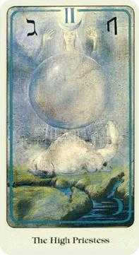 The Popess Tarot Card - Haindl Tarot Deck
