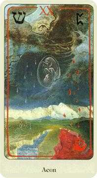 The Judgment Tarot Card - Haindl Tarot Deck