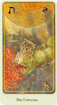 The World Tarot Card - Haindl Tarot Deck