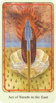 Ace of Batons Tarot Card - Haindl Tarot Deck