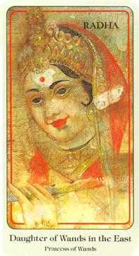 Sister of Fire Tarot Card - Haindl Tarot Deck