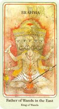 King of Staves Tarot Card - Haindl Tarot Deck
