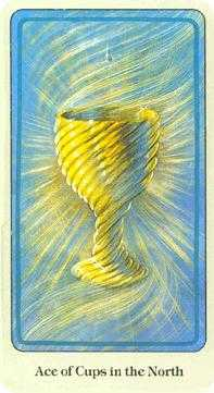 Ace of Cups Tarot Card - Haindl Tarot Deck