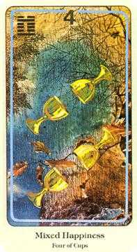 Four of Hearts Tarot Card - Haindl Tarot Deck