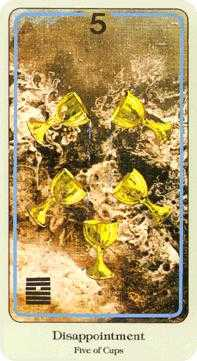 Five of Ghosts Tarot Card - Haindl Tarot Deck