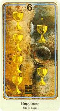 Six of Hearts Tarot Card - Haindl Tarot Deck