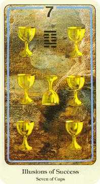 Seven of Cups Tarot Card - Haindl Tarot Deck