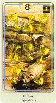 Eight of Hearts Tarot Card - Haindl Tarot Deck