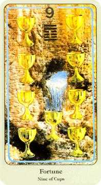 Nine of Bowls Tarot Card - Haindl Tarot Deck